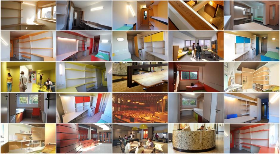 Tous les projets mobilier cbbm architectes for Chambre universitaire nice